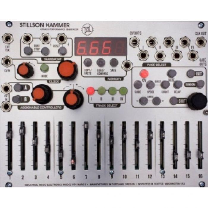 Industrial Music Electronics Stillson Hammer MKII Eurorack Sequencer Module (v2 Software)