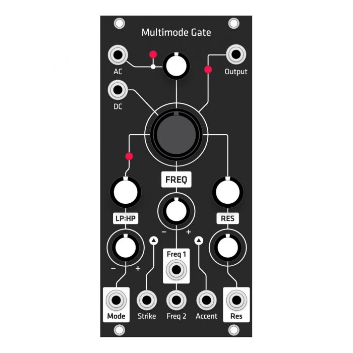 Grayscale Replacement Panel - Make Noise MMG (Black Matte)