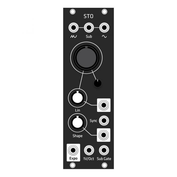Grayscale Replacement Panel - Make Noise STO (Black Matte)