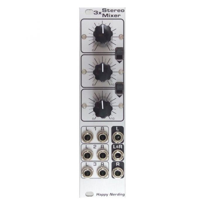 Happy Nerding 3x Stereo Mixer Eurorack Module (Silver)