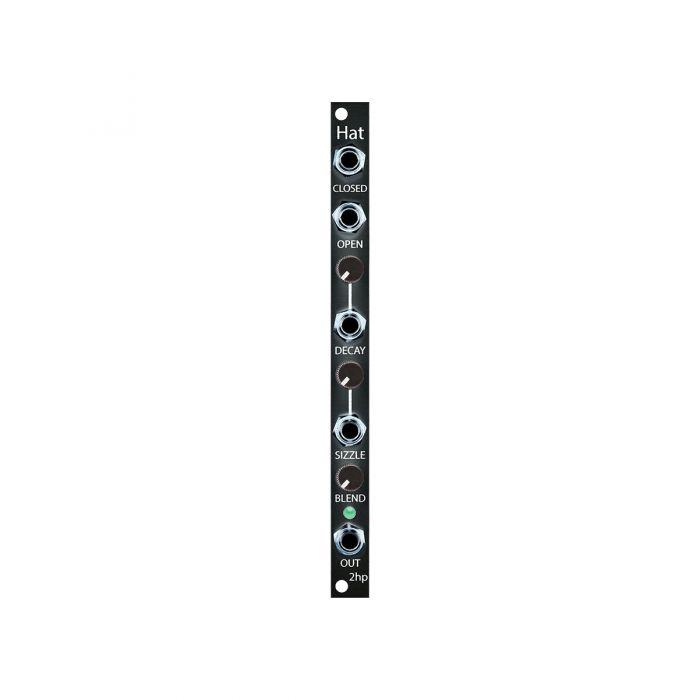 2hp Hat Eurorack Drum Module (Black)