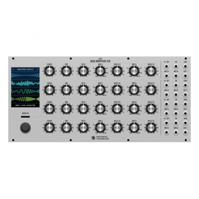 Synthesis Technology E370 Eurorack Quad Morphing VCO Module (Silver)