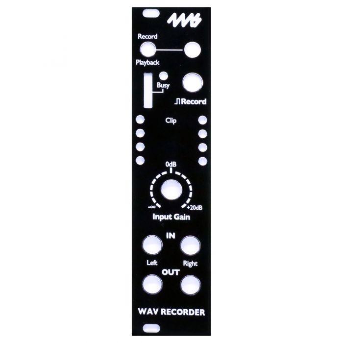 4ms Replacement Panel (Black) - WAV Recorder