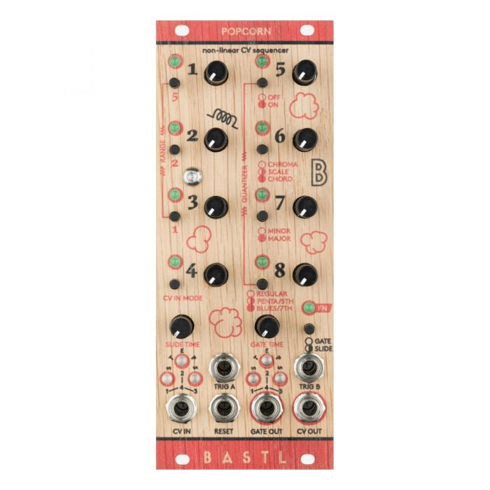 Bastl Instruments Popcorn Eurorack Non Linear CV Sequencer Module (Wood)