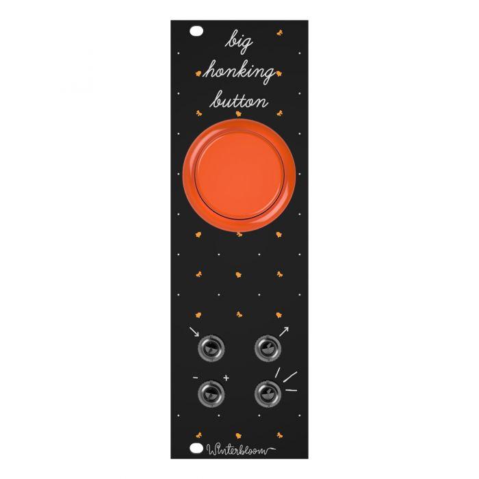 Winterbloom Big Honking Button Eurorack Sample Trigger Module (Black/Orange)