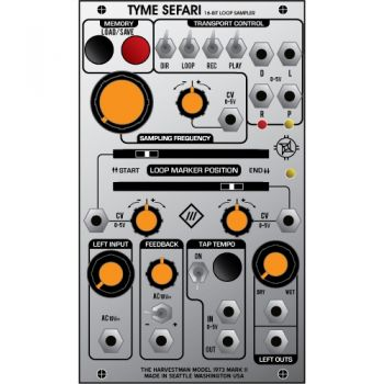 Industrial Music Electronics Tyme Sefari Eurorack Audio Loop & Sampler Module