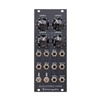 Erica Synths Black Stereo Mixer Eurorack Module (MK2)
