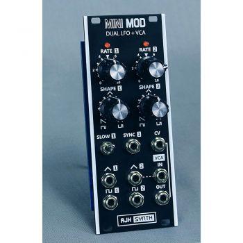 AJH Synth MiniMod Dual LFO + VCA Eurorack Module (Black)
