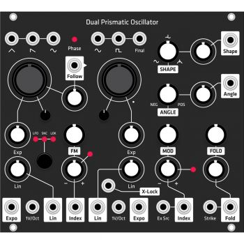 Grayscale Replacement Panel - Make Noise DPO (Black Matte)