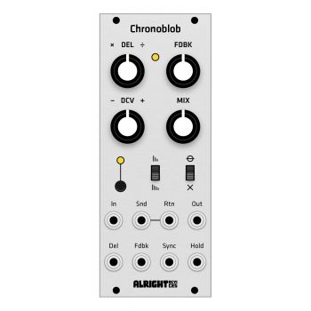 Grayscale Replacement Panel - Alright Devices Chronoblob (Aluminium)