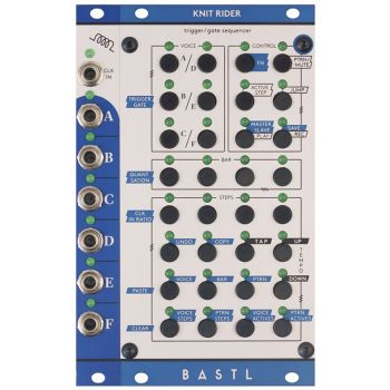 Bastl Instruments Knit Rider Eurorack 6 Channel Gate/Trigger Sequencer Module (Metal)