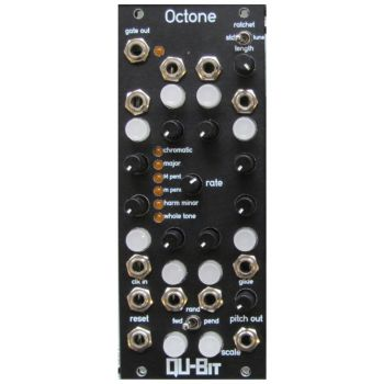 Qu-Bit Electronix Octone Eurorack Sequencer Module (Black)