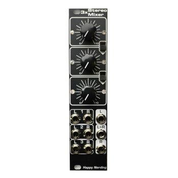 Happy Nerding 3x Stereo Mixer Eurorack Module (Black)