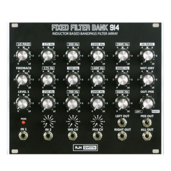 AJH Synth Fixed Filter Bank 914 Eurorack Module (Black)