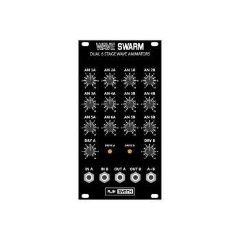 AJH Synth WaveSwarm Eurorack Waveform Animator Module (Vintage Black)