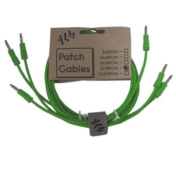 ALM Busy Circuits ALM-PC001x90 Eurorack Patch Cables (3 x 90cm) - Green