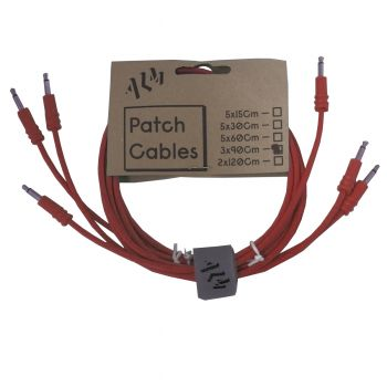 ALM Busy Circuits ALM-PC001x90 Eurorack Patch Cables (3 x 90cm) - Red