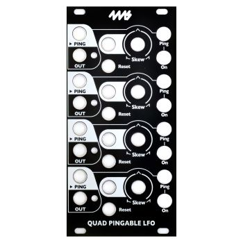 4ms Quad Pingable LFO Replacement Panel (Black)