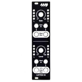 4ms Replacement Panel (Black) - Listen IO
