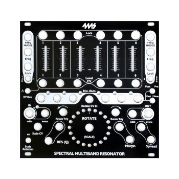 4ms Replacement Panel (Black) - SMR Spectral Multiband Resonator