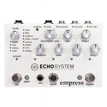 Empress Effects Echo System Multi Delay Effects Processor