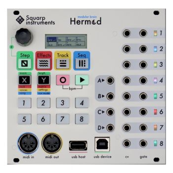 Squarp Instruments Hermod Eurorack Sequencer Module (White)