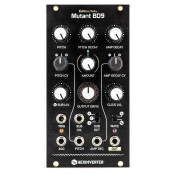 Hexinverter Electronique Mutant BD9 Eurorack Drum Module (Édition Noire - Black)