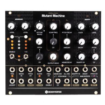 Hexinverter Electronique Mutant Machine Analog Percussion Module (Édition Noire-  Black)