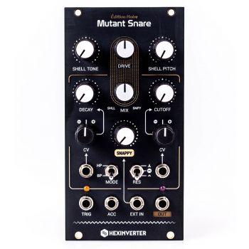 Hexinverter Electronique Mutant Snare Eurorack Drum Module (Édition Noire - Black)
