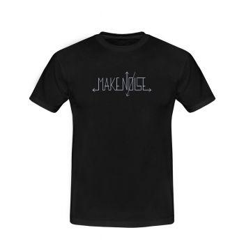 Make Noise Logo T-Shirt (Black with White Logo) - X-Large
