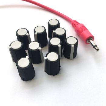Make Noise Replacement Knob Set (10 - White - Medium)