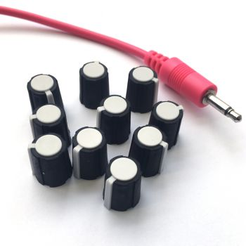 Make Noise Replacement Knob Set (10 - White - Small)