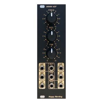 Happy Nerding MMM VCF Eurorack Filter Module (Black)