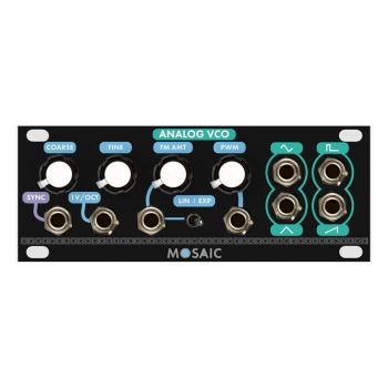 Mosaic Analog VCO 1U Eurorack Oscillator Module (Black)