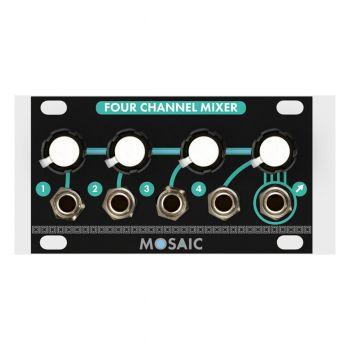 Mosaic Four Channel Mixer 1U Eurorack Module (Black)