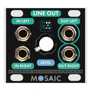 Mosaic Line Output 1U Eurorack Module (Black)