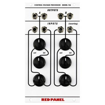 Red Panel 156 Eurorack Dual Channel CV Processor Module (Buchla 100 Series)
