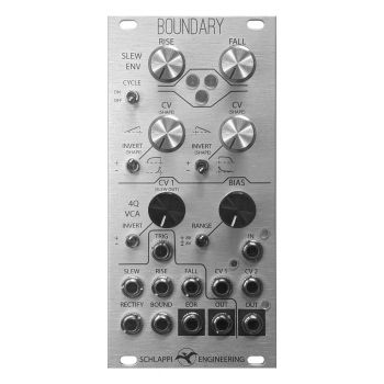Schlappi Engineering Boundary Eurorack Function Generator and VCA (Silver)