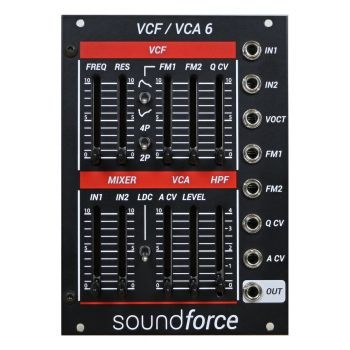 SoundForce VCF/VCA 6 Eurorack Module (Juno) - Black