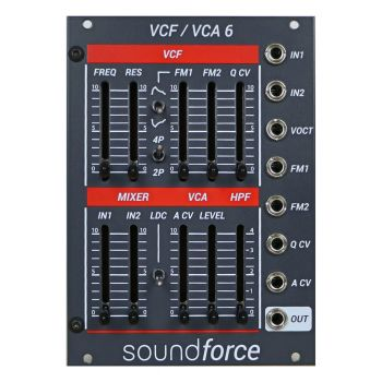SoundForce VCF/VCA 6 Eurorack Module (Juno) - Grey