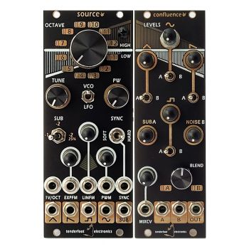 Tenderfoot Source & Confulence Eurorack VCO & Wave Mixer Module