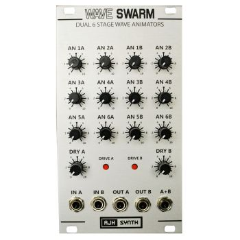 AJH Synth WaveSwarm Eurorack Waveform Animator Module (Silver)
