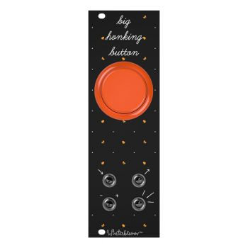 Winterbloom Big Honking Button Eurorack Sample Trigger Module (Black/Orange)