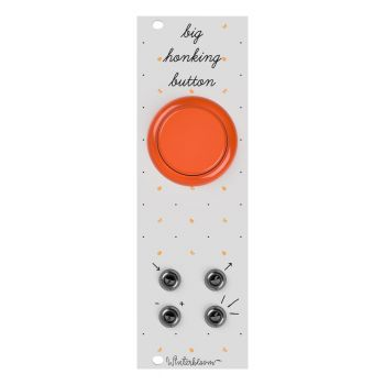 Winterbloom Big Honking Button Eurorack Sample Trigger Module (White/Orange)