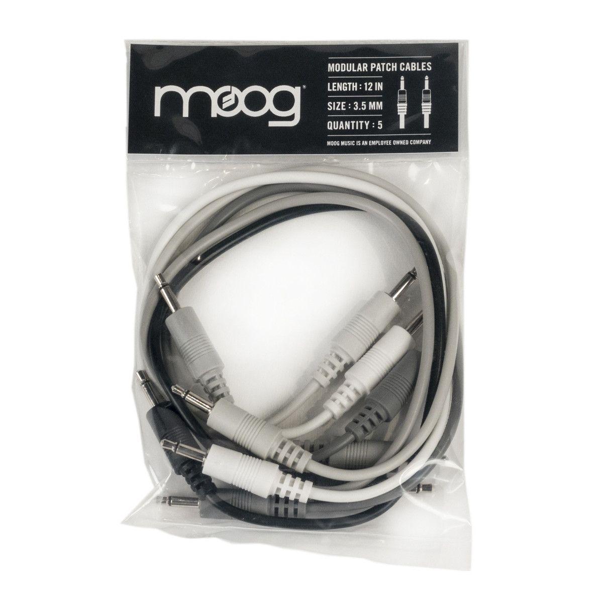 Moog Music Eurorack Modular Patch Cables - 30cm (5 Pack)
