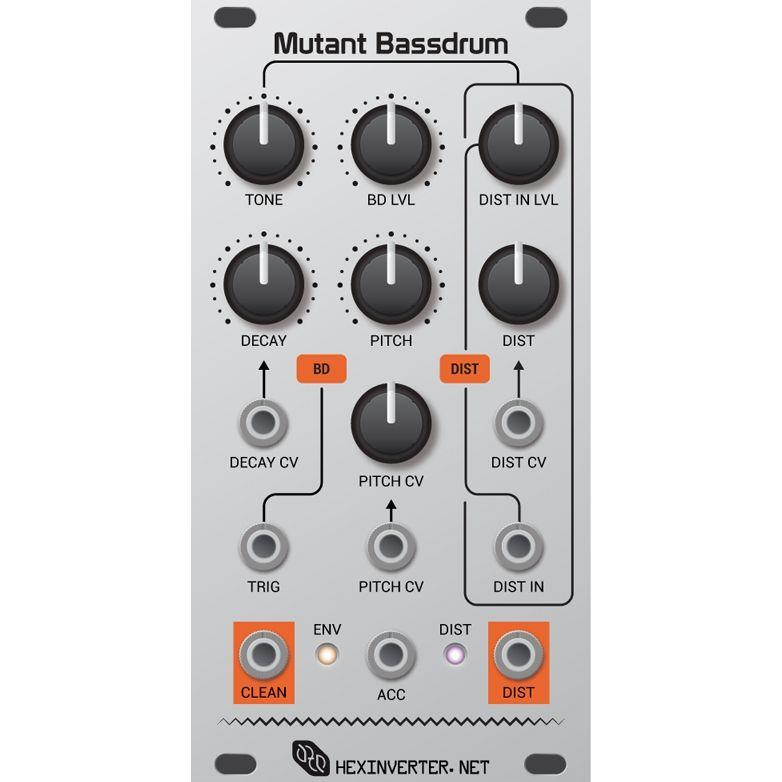 Hexinverter Electronique Mutant Bassdrum Eurorack Drum Module