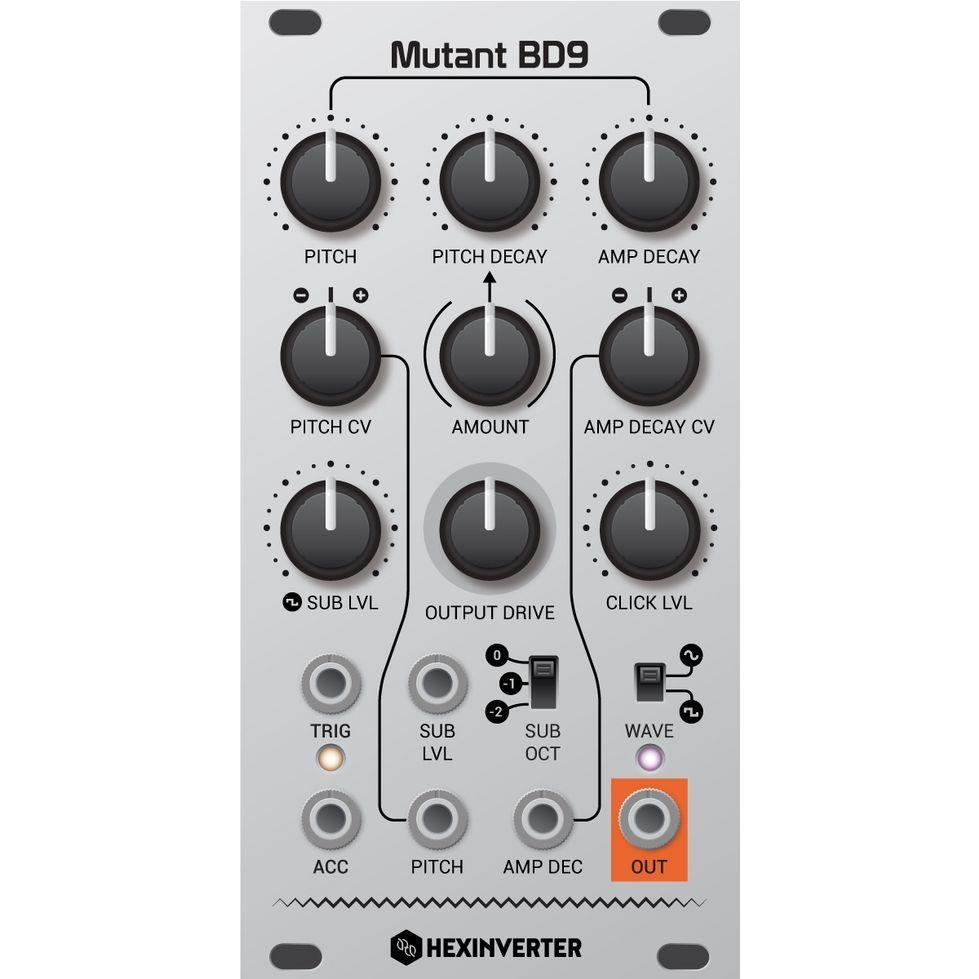 Hexinverter Electronique Mutant BD9 Eurorack Drum Module