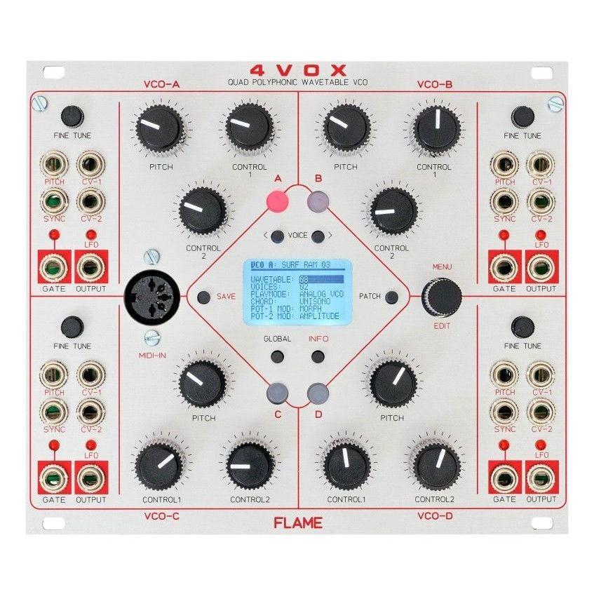 Flame 4VOX Eurorack Quad Oscillator Module