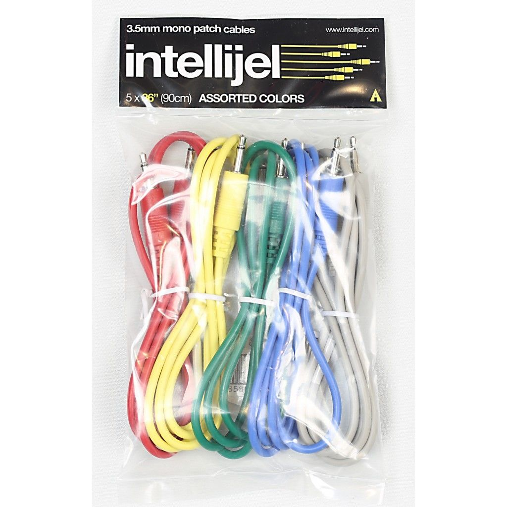Intellijel Eurorack Patch Cables (90cm) - 5 Pack