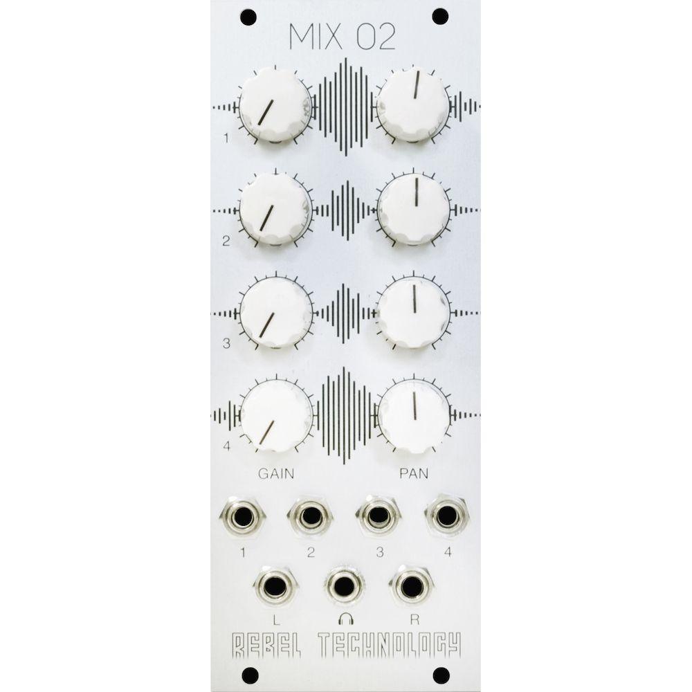 Rebel Technology Mix 02 Eurorack Stereo Mixer Module